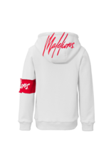 Malelions Junior Captain Hoodie White - Red