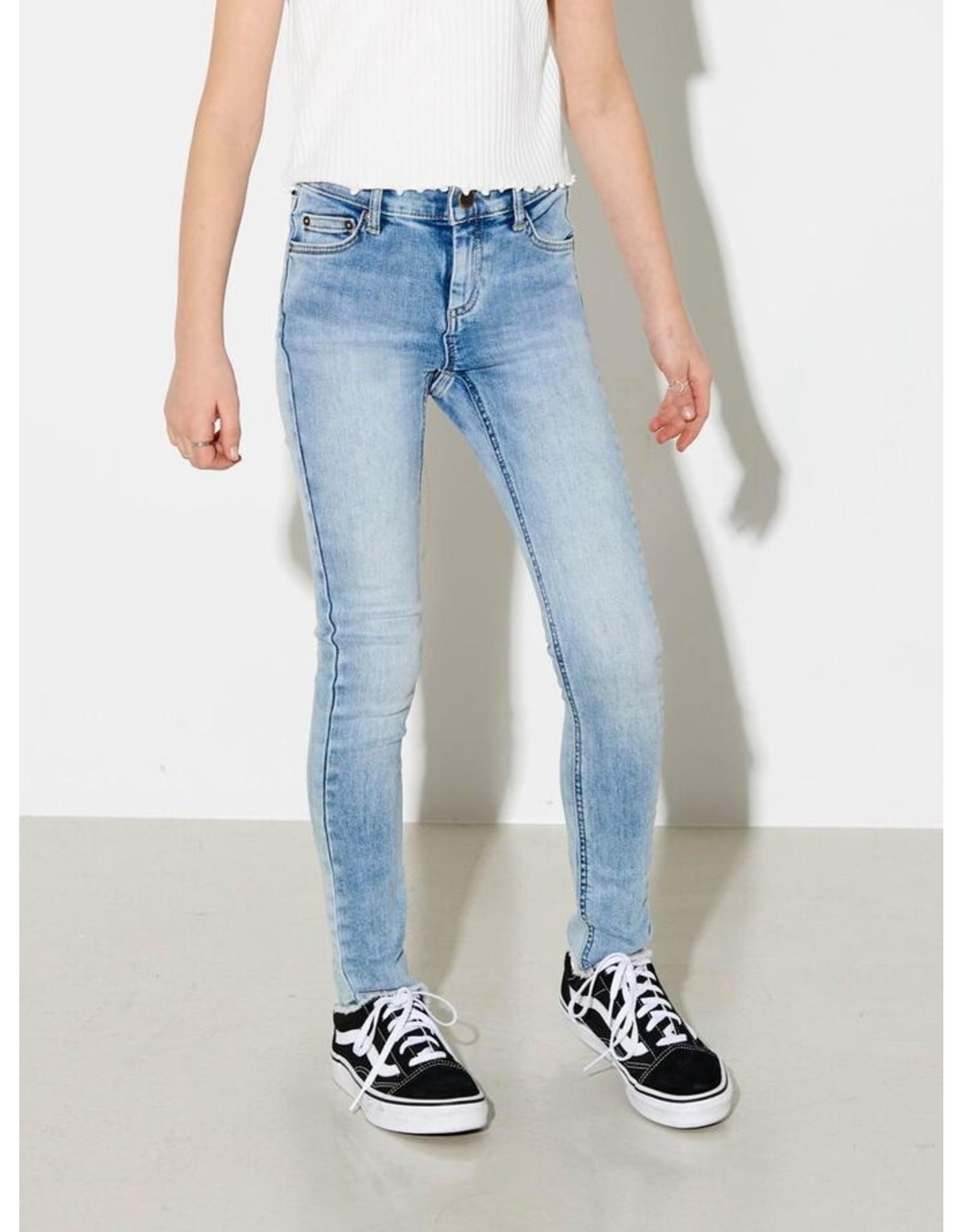 Kids Only Konblush Skinny Jeans Blauw