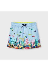 Mayoral Printed swim shorts  Lightblue