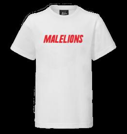 Malelions Junior T-shirt Nium White - Red
