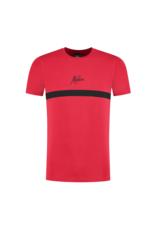 Malelions Junior T-shirt Tonny Red - Black