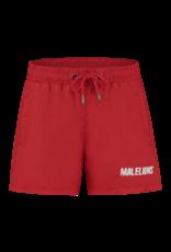 Malelions Junior Swimshort Nium Red - White