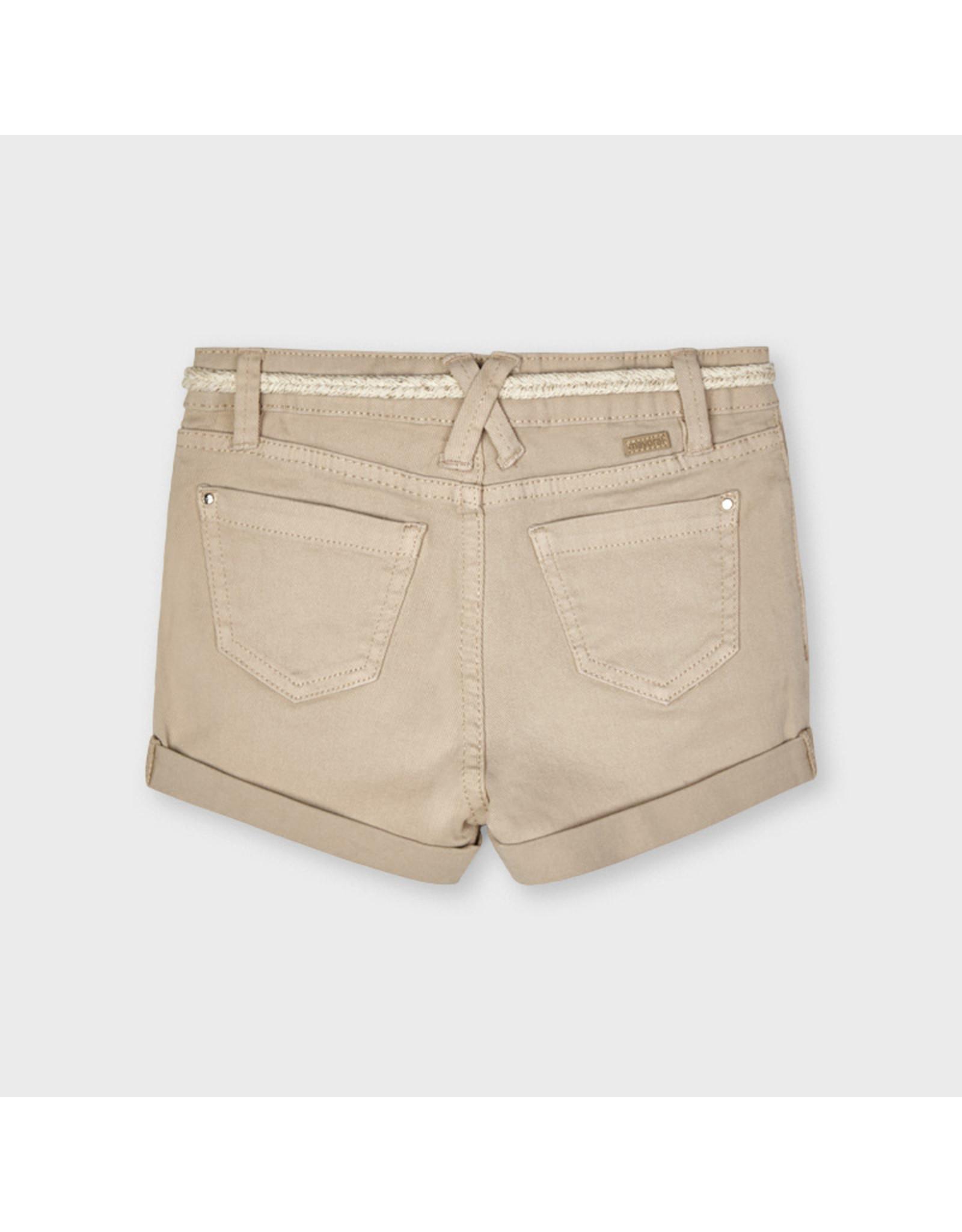 Mayoral Basic twill shorts  Camel