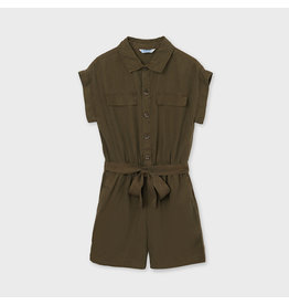 Mayoral romper with belt Hunt Green