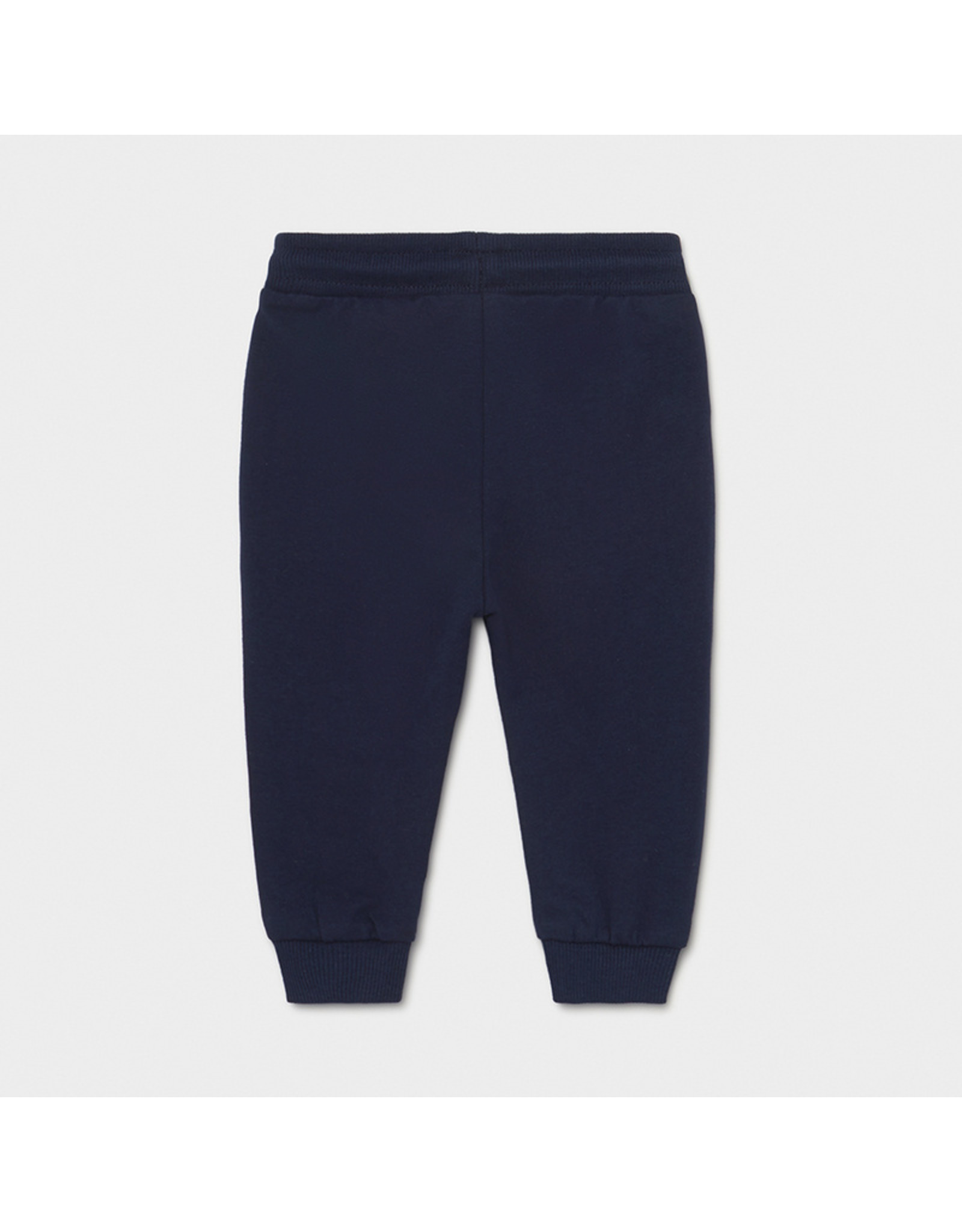 Mayoral Basic cuffed fleece trousers Nautical