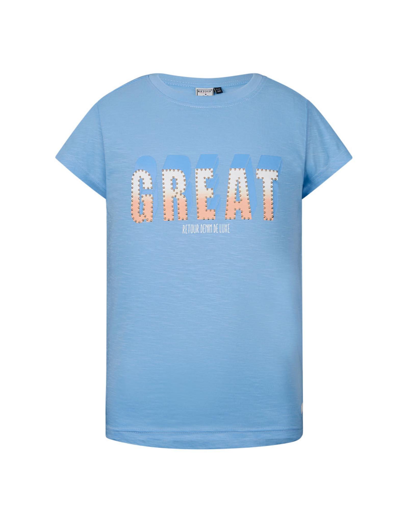 Retour Jeans T-shirt Victoria Light Blue
