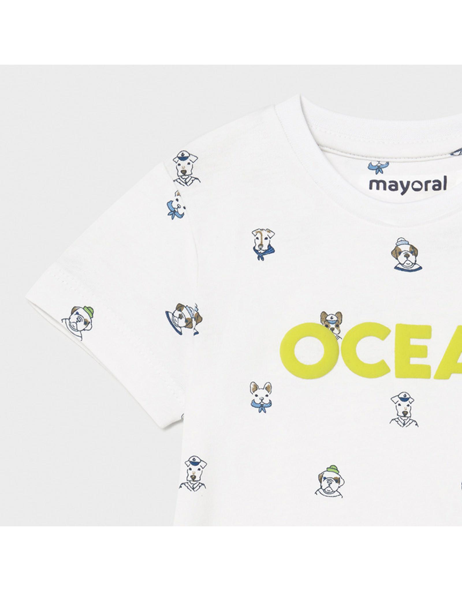 Mayoral s/s 2 pcs printed t-shirt set Lavender