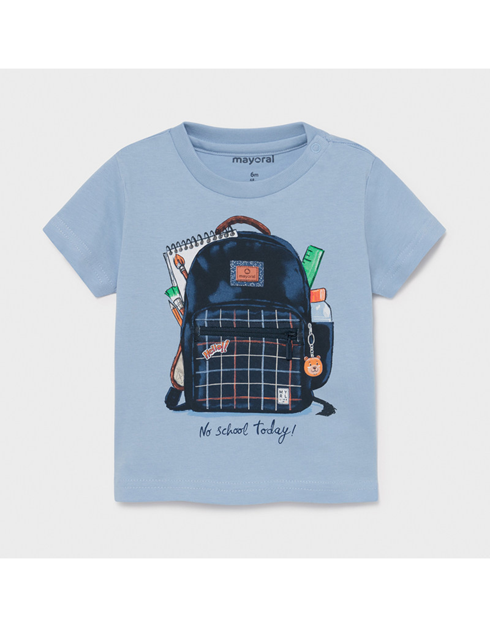 "Mayoral s/s t-shirt ""play"" ""backpack"" Lavender"