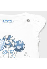 Mayoral s/s printed tshirt  White-Sky
