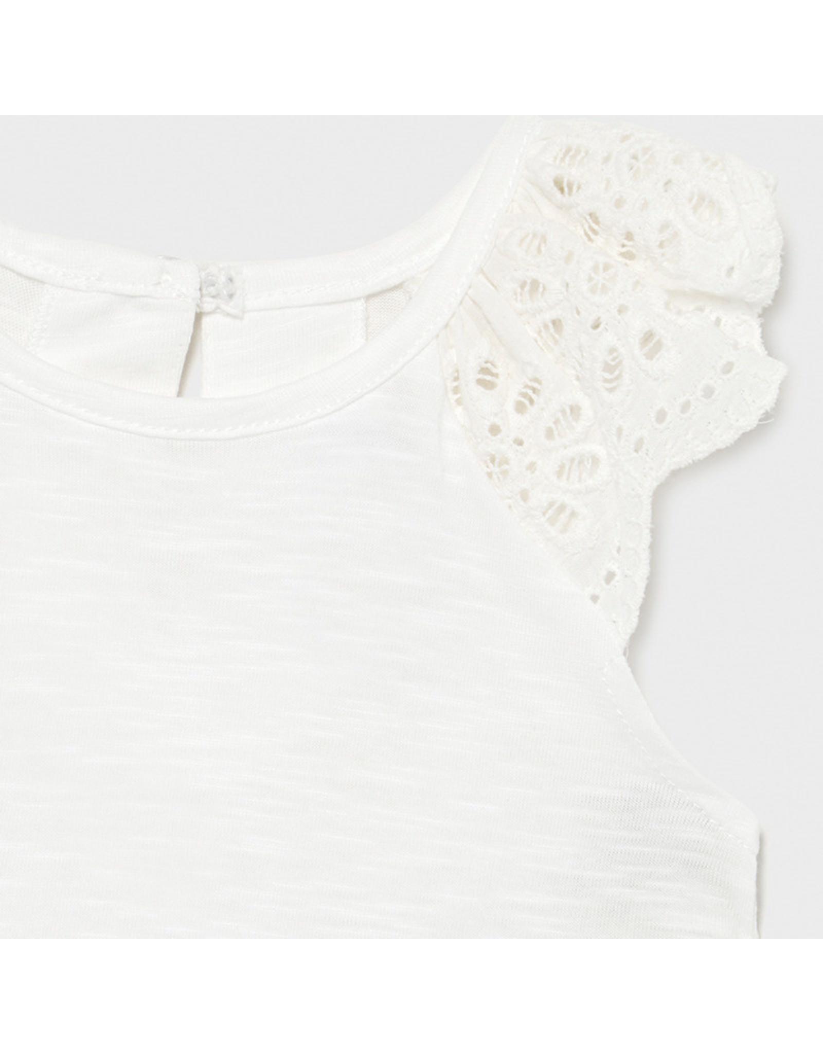 Mayoral L/s cotton t-shirt  White