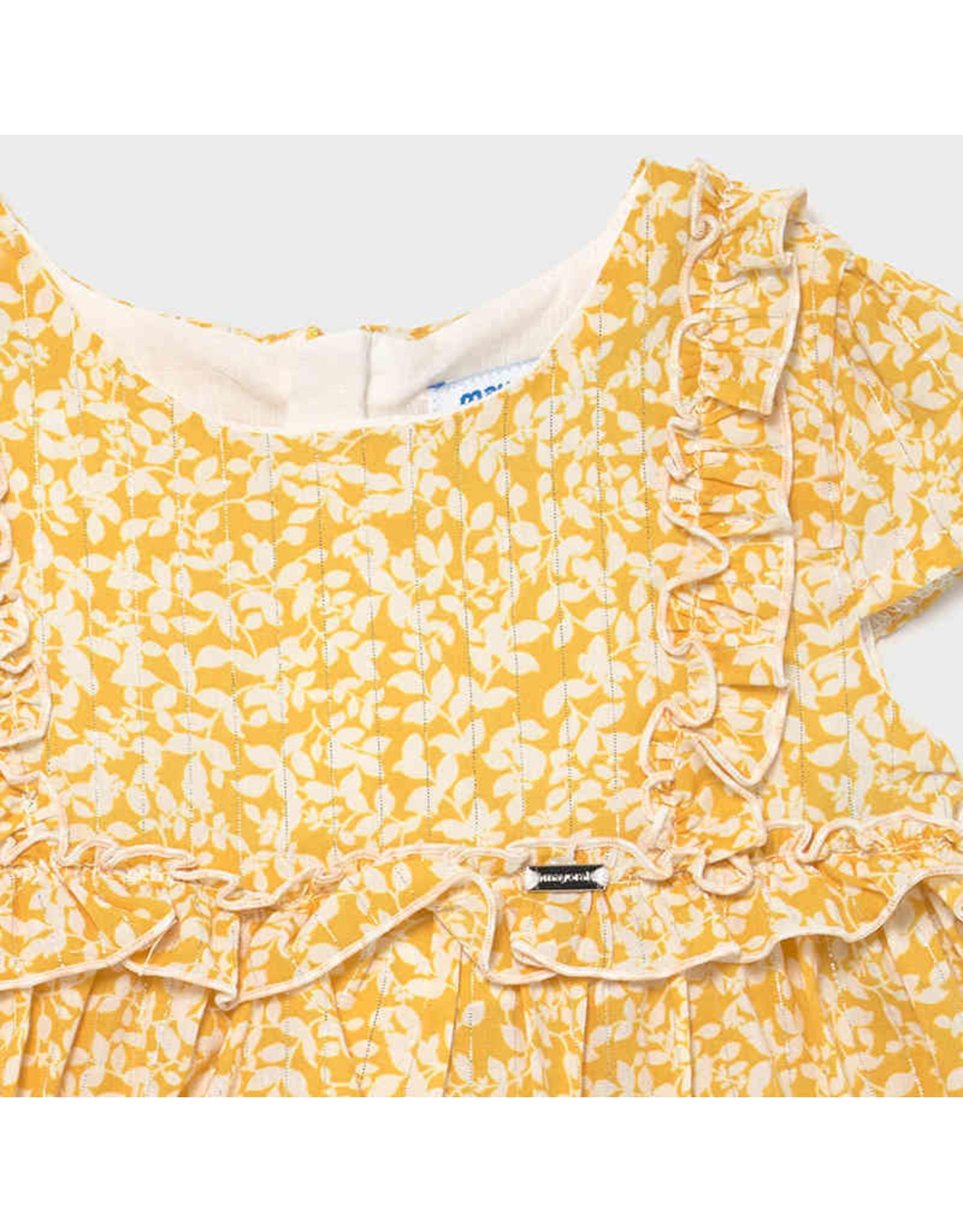 Mayoral Voile dress  Mustard