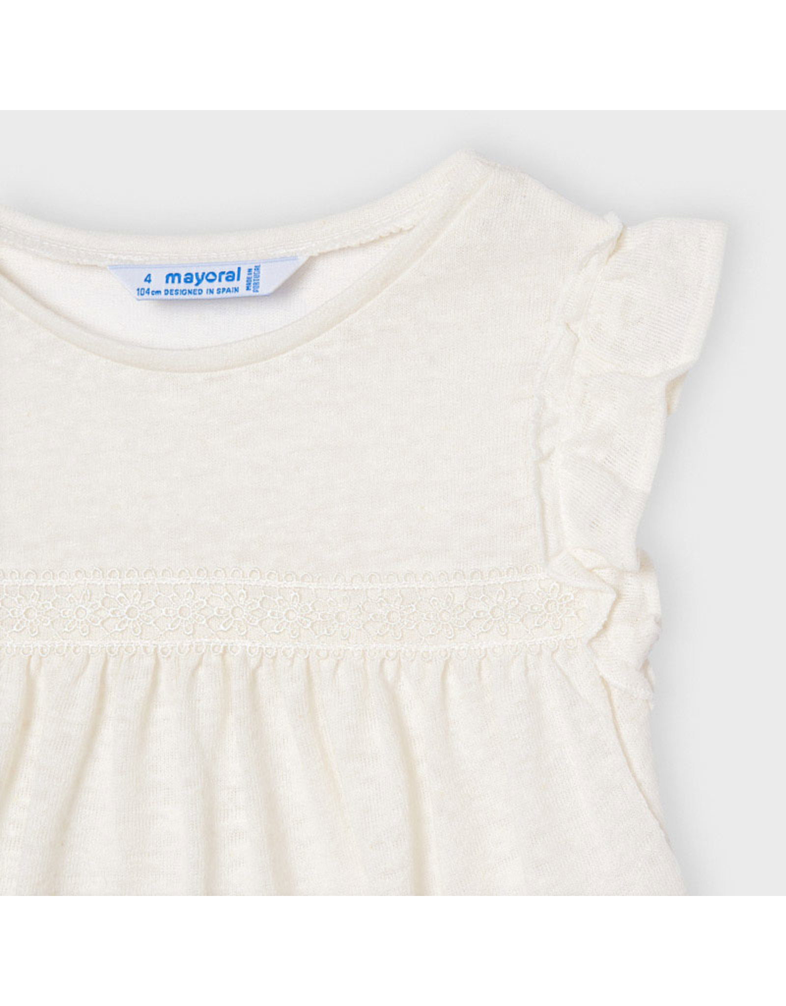 Mayoral linen s/s t-shirt  Natural