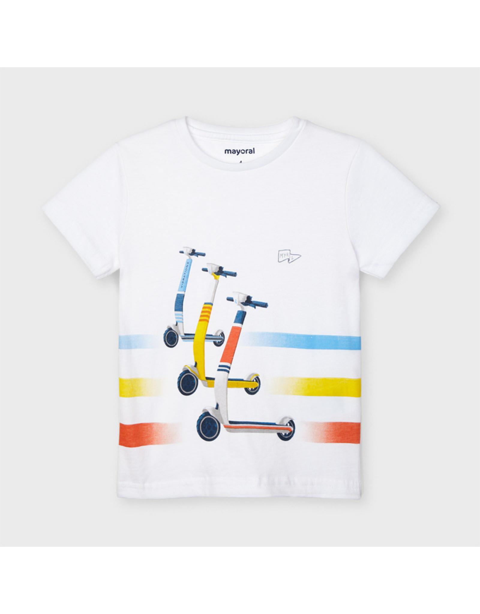 Mayoral s/s skater t-shirt  White