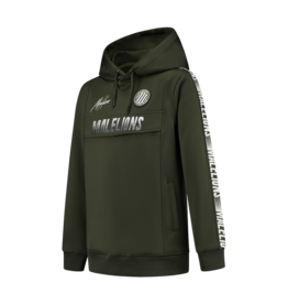 Malelions Junior Warming Up Hoodie Army - Off-white