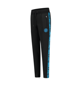 Malelions Junior Warming Up Trackpants Black - Blue