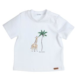 Gymp t-shirt - giraffe - aeromax -  wit