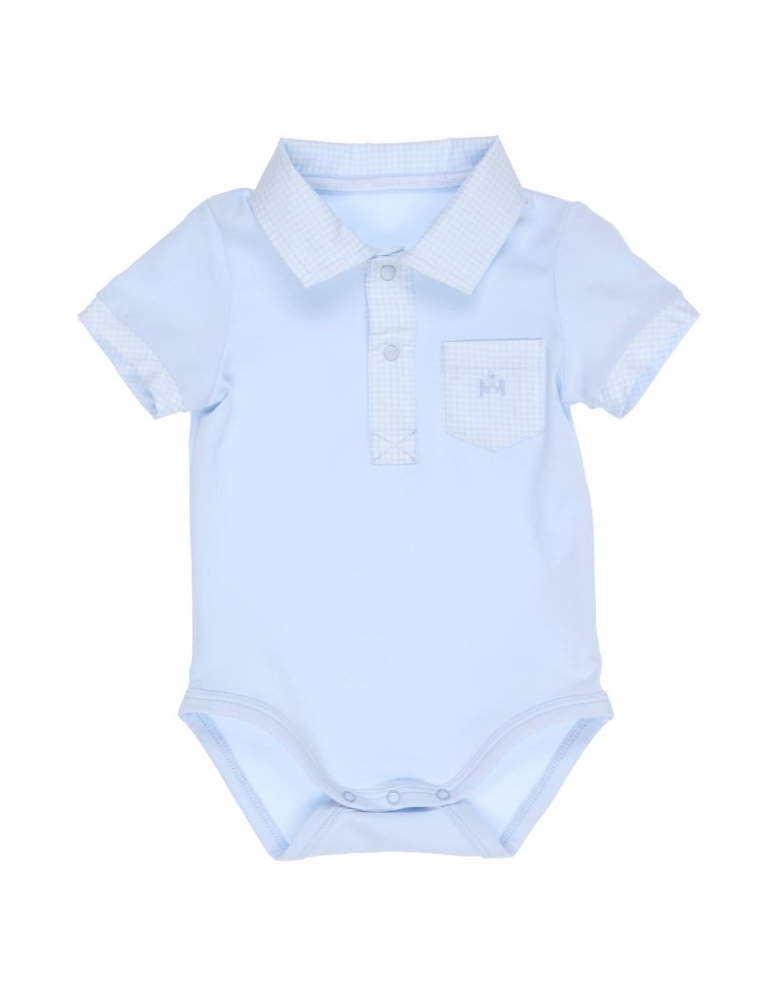 Gymp babypakje - polo romper - aero lichtblauw