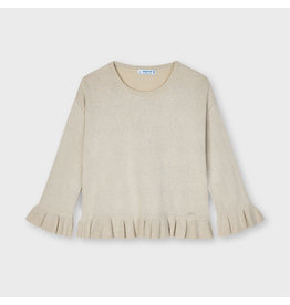 Mayoral Ruffle sweater Beige Lure