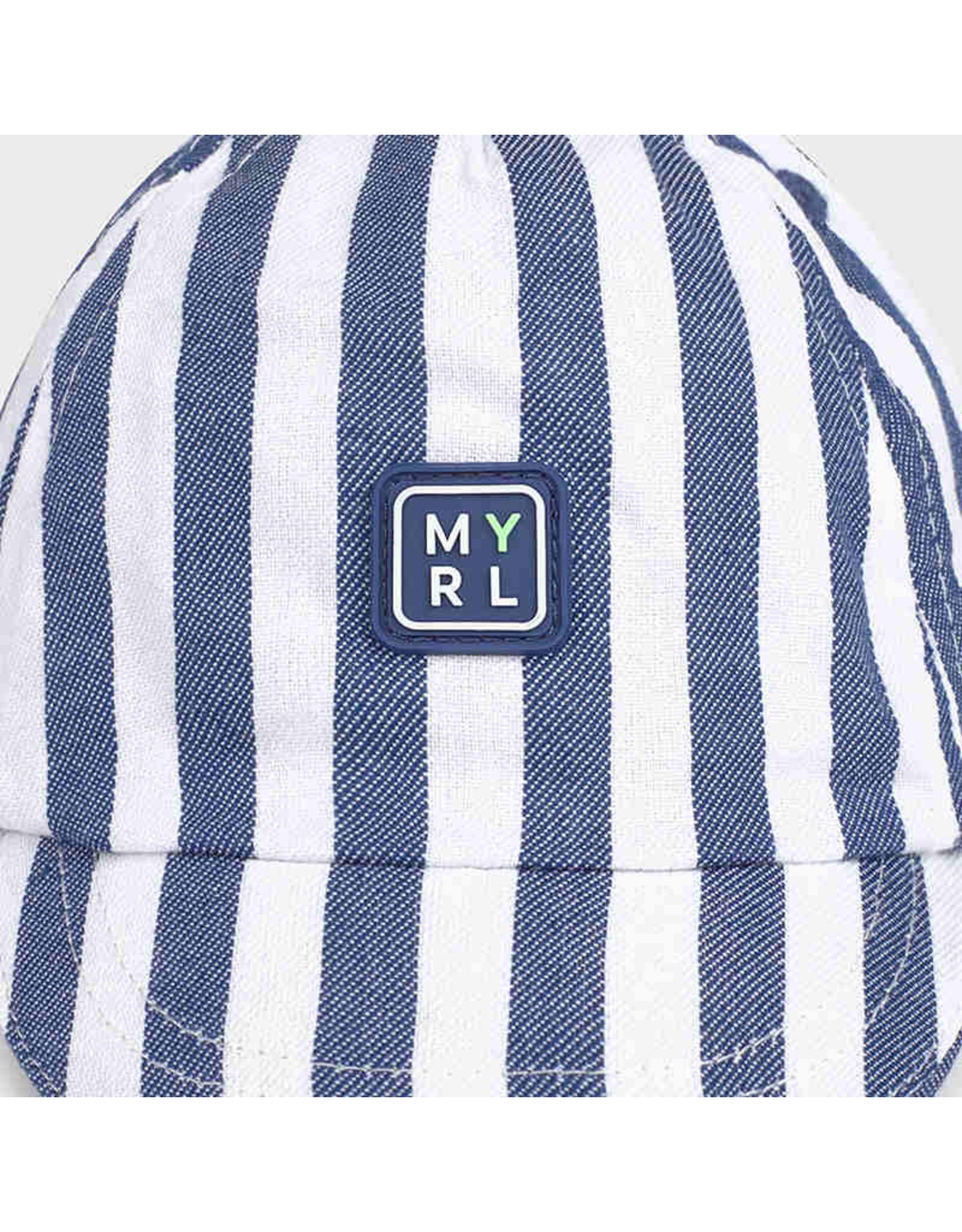 Mayoral Striped hat  Blue