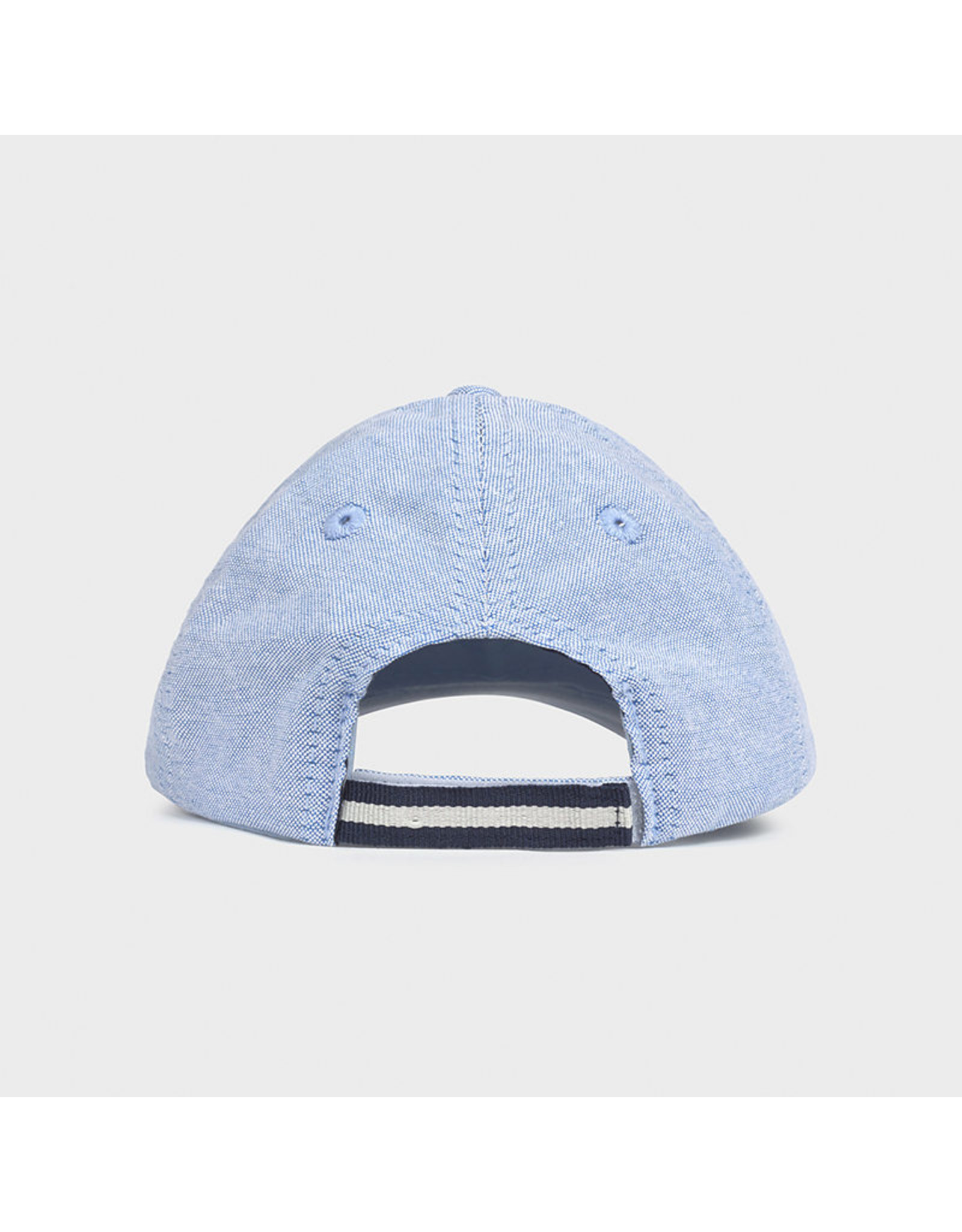 Mayoral oxford embroided bonnet Lightblue