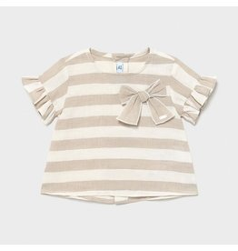 Mayoral linen striped blouse Linen