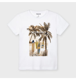 "Mayoral s/s t-shirt ""weekend vibes"" White"