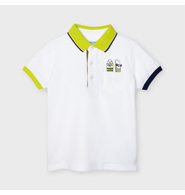 Mayoral printed s/s polo White