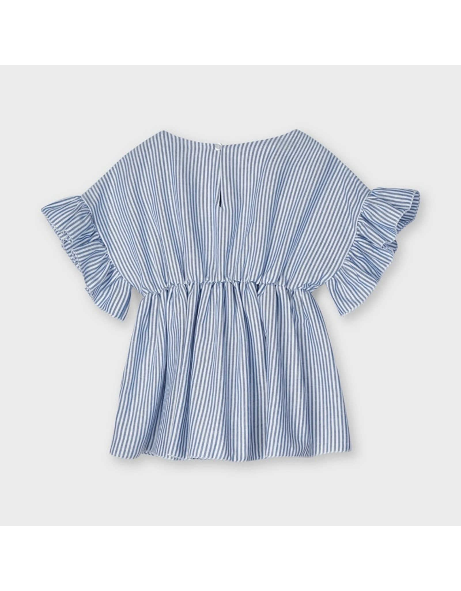Mayoral Blouse with ruffle sleeve  Ink