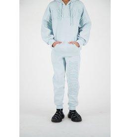 Reinders Pants Wording Tone to Tone Baby Blue