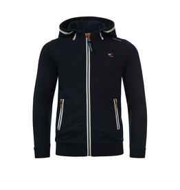Common Heroes MARC sweat cardigan hoody with lycra Marine