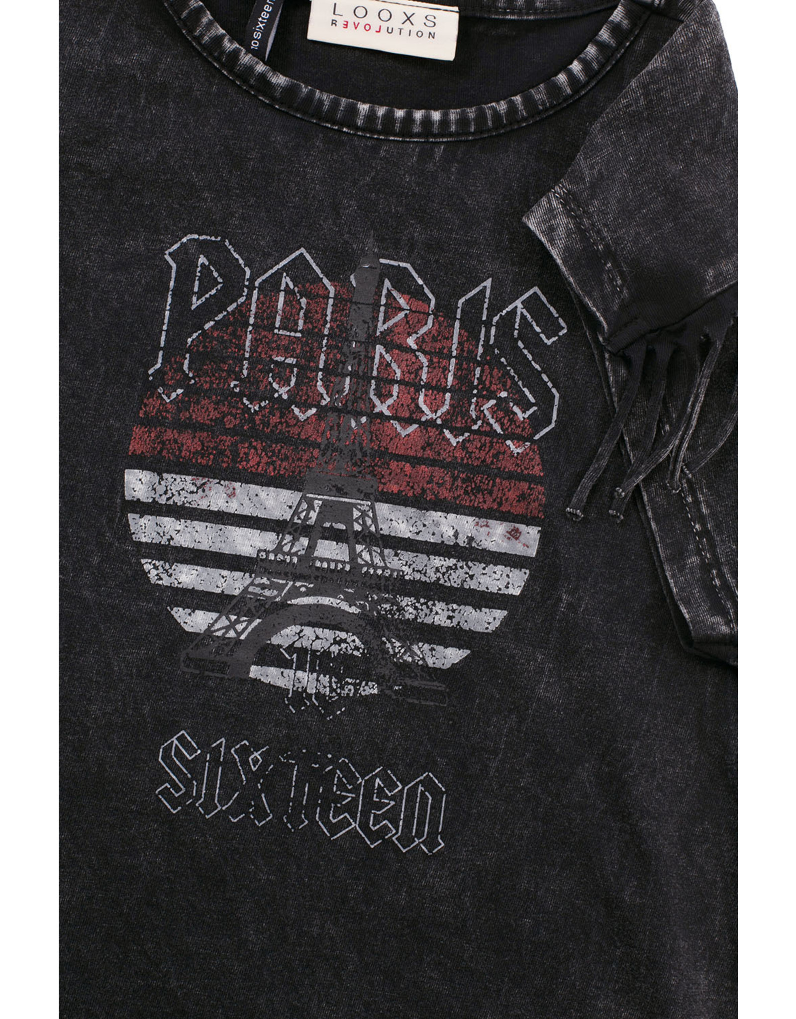 LOOXS 10sixteen Acid wash T-shirt ACID BLACK