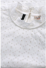LOOXS 10sixteen Crinkle lace top WHITE LILLY