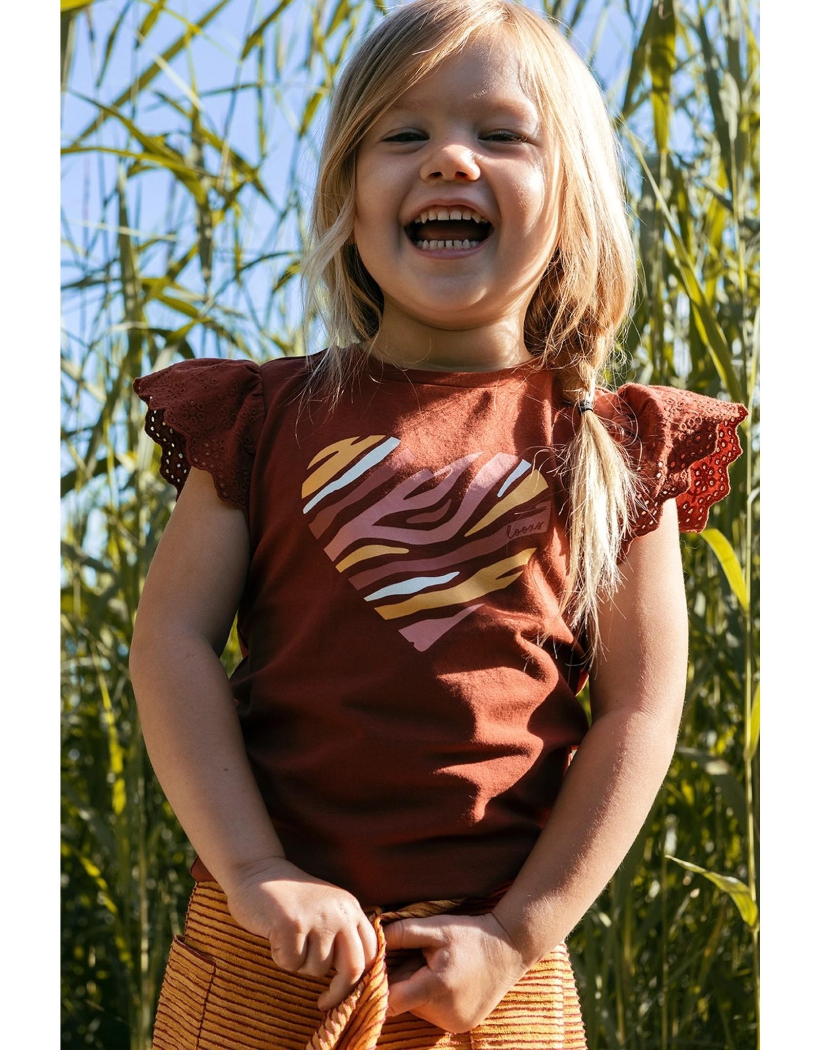 LOOXS Little t-shirt s. sleeve PECAN