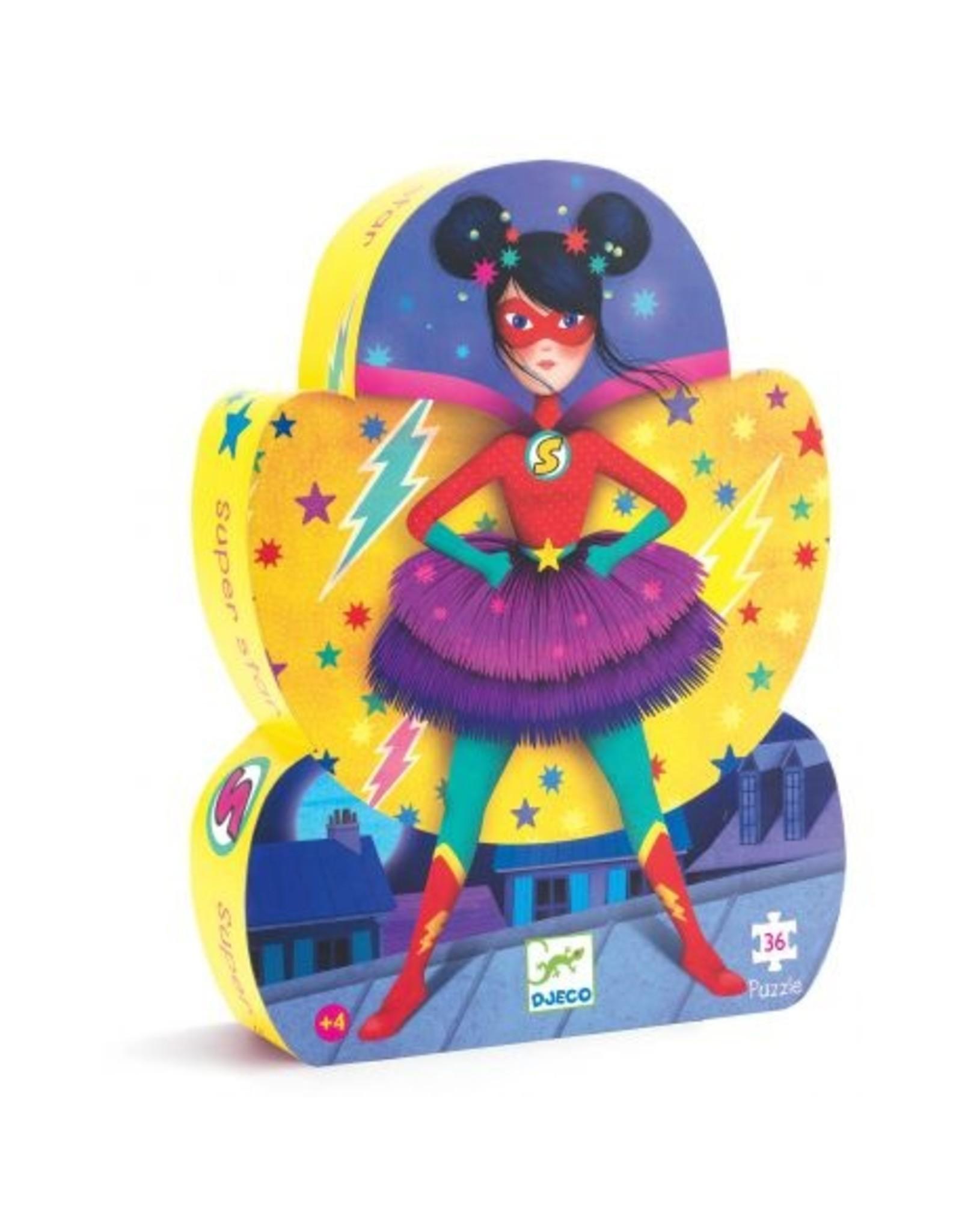 Djeco Silhouette puzzle Super star DJ07226
