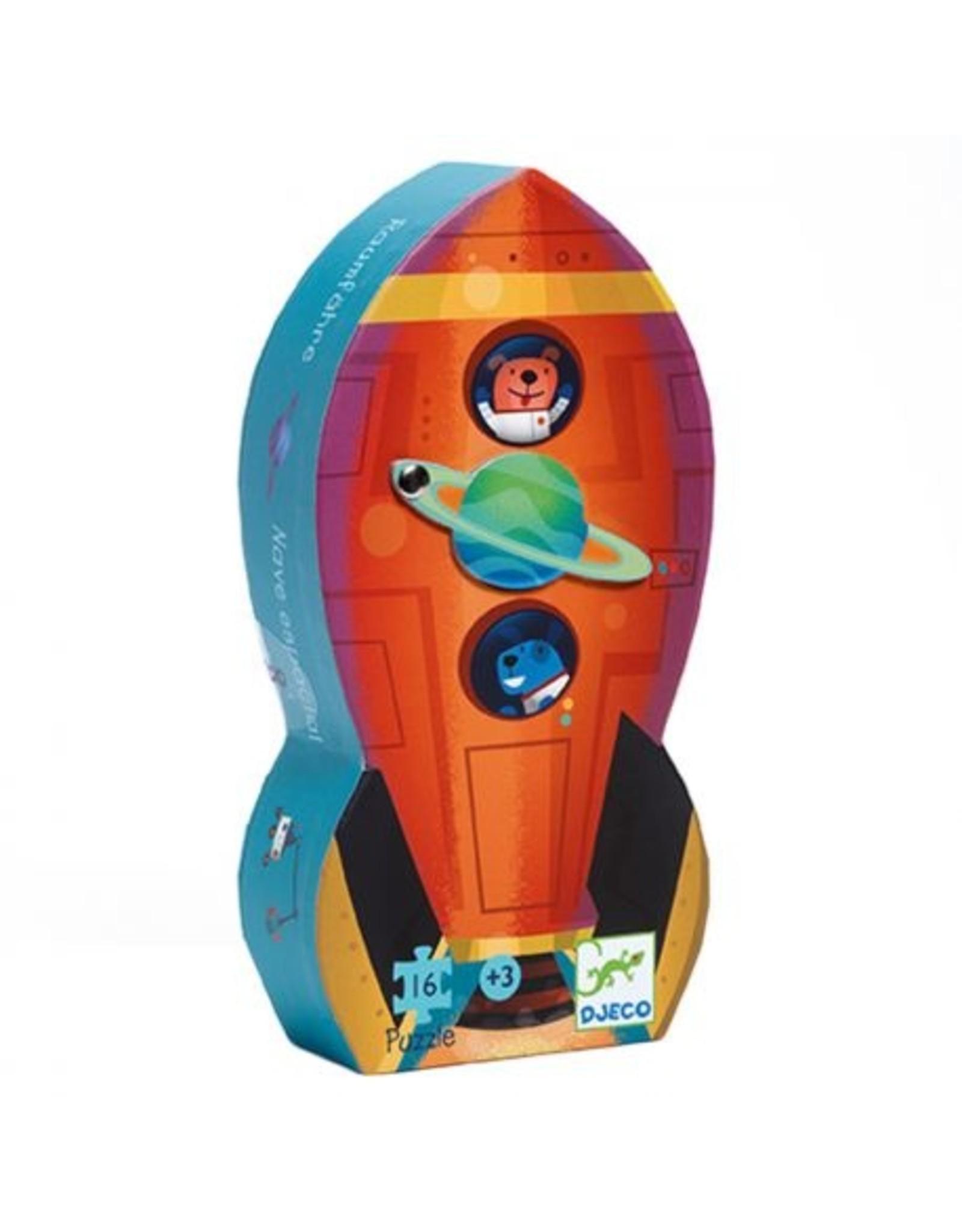 Djeco Silhouette puzzle Spaceship DJ07271