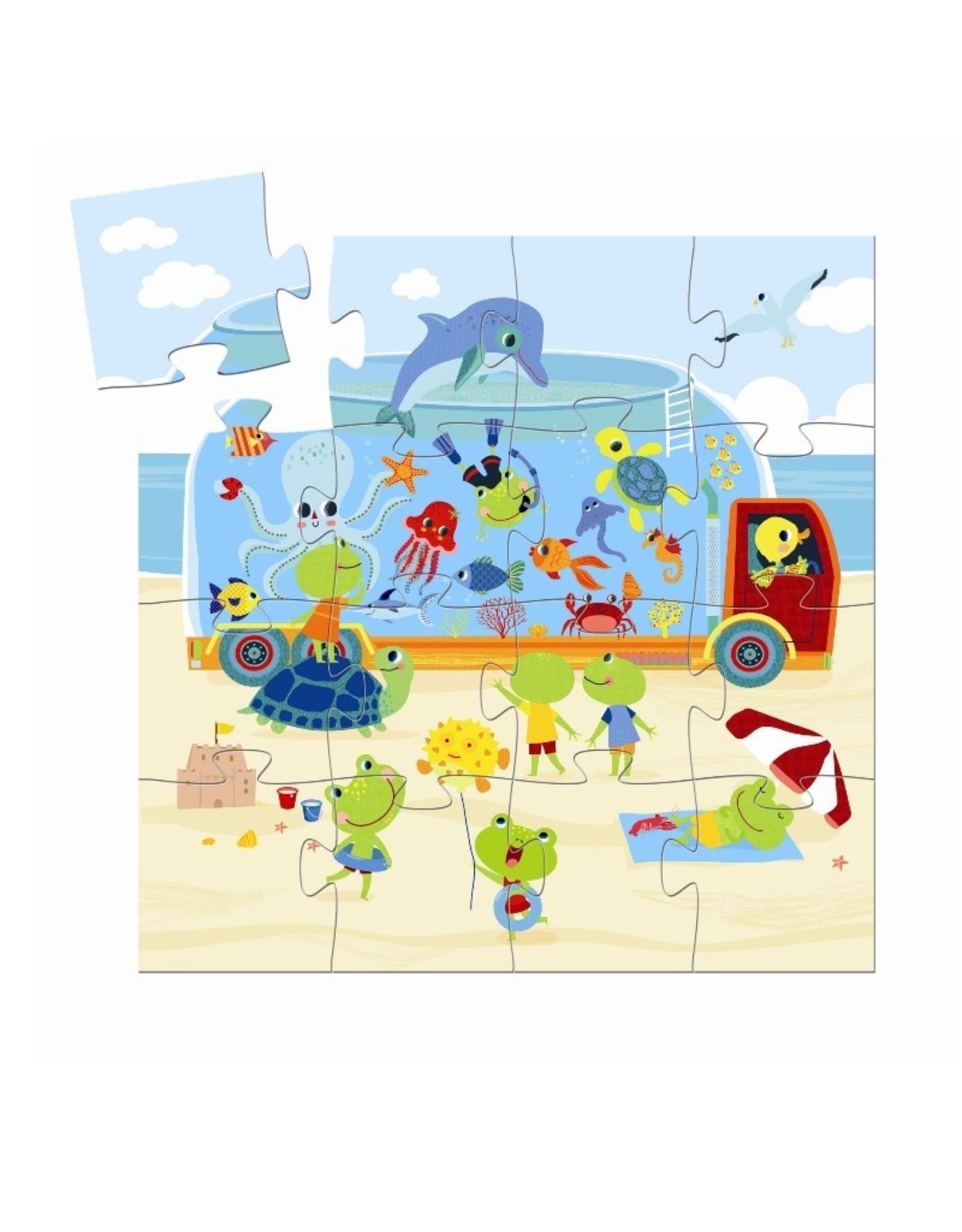 Djeco Silhouette puzzel Aquarium DJ07266