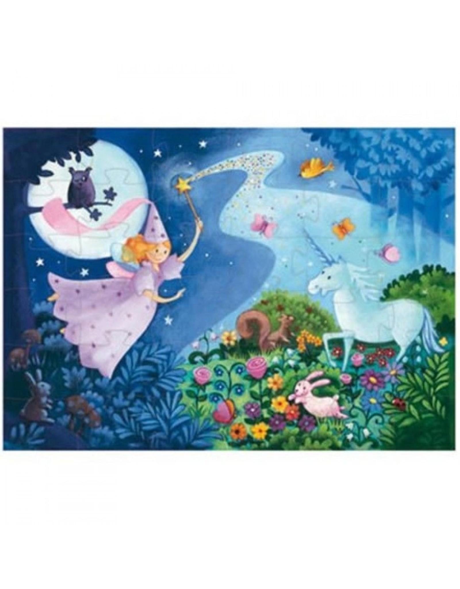Djeco Silhouette puzzel Fairy and the Unicorn DJ07225