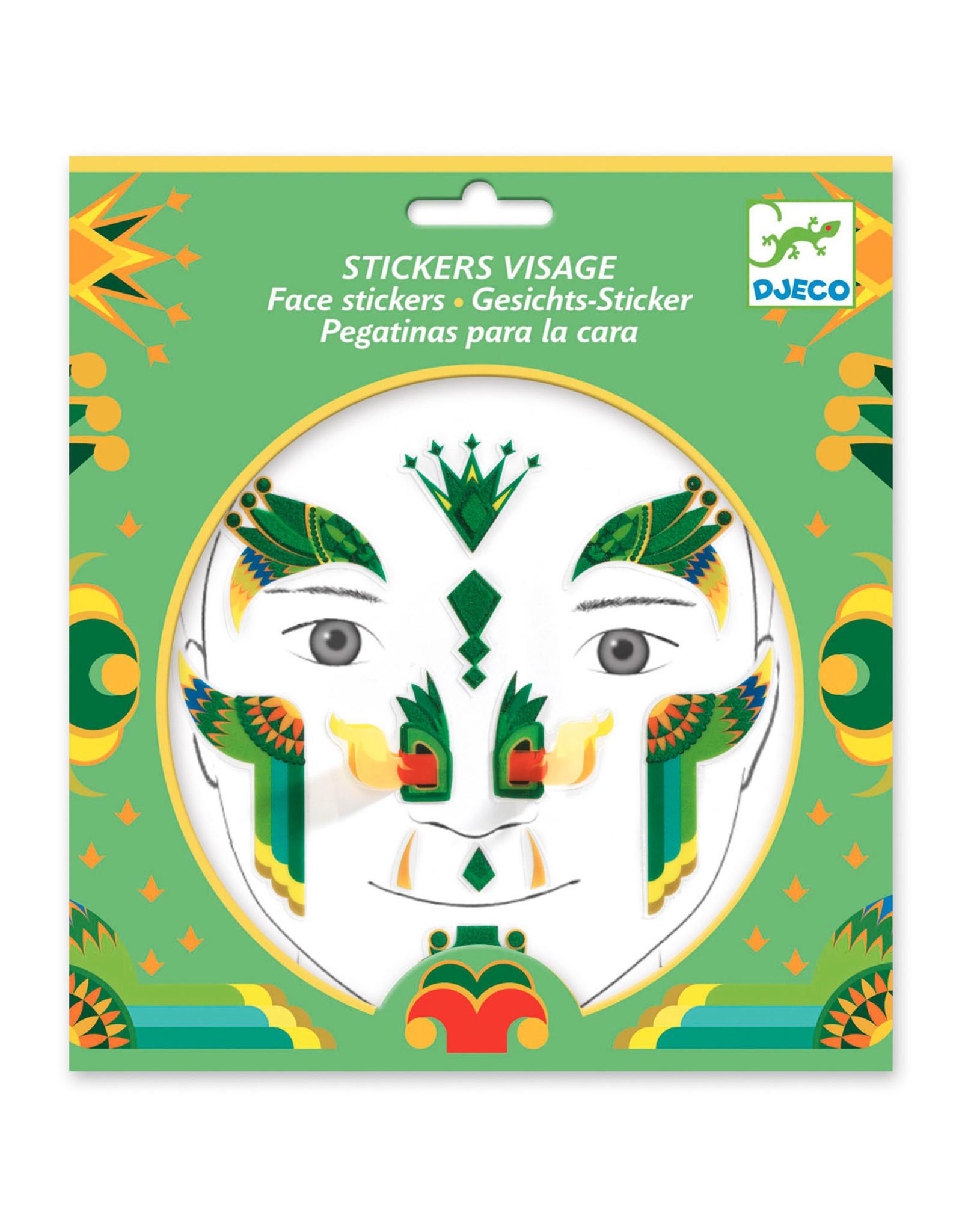 Djeco Face Stickers Dragon DJ09217