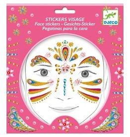 Djeco Face Stickers Gold Princess DJ09211