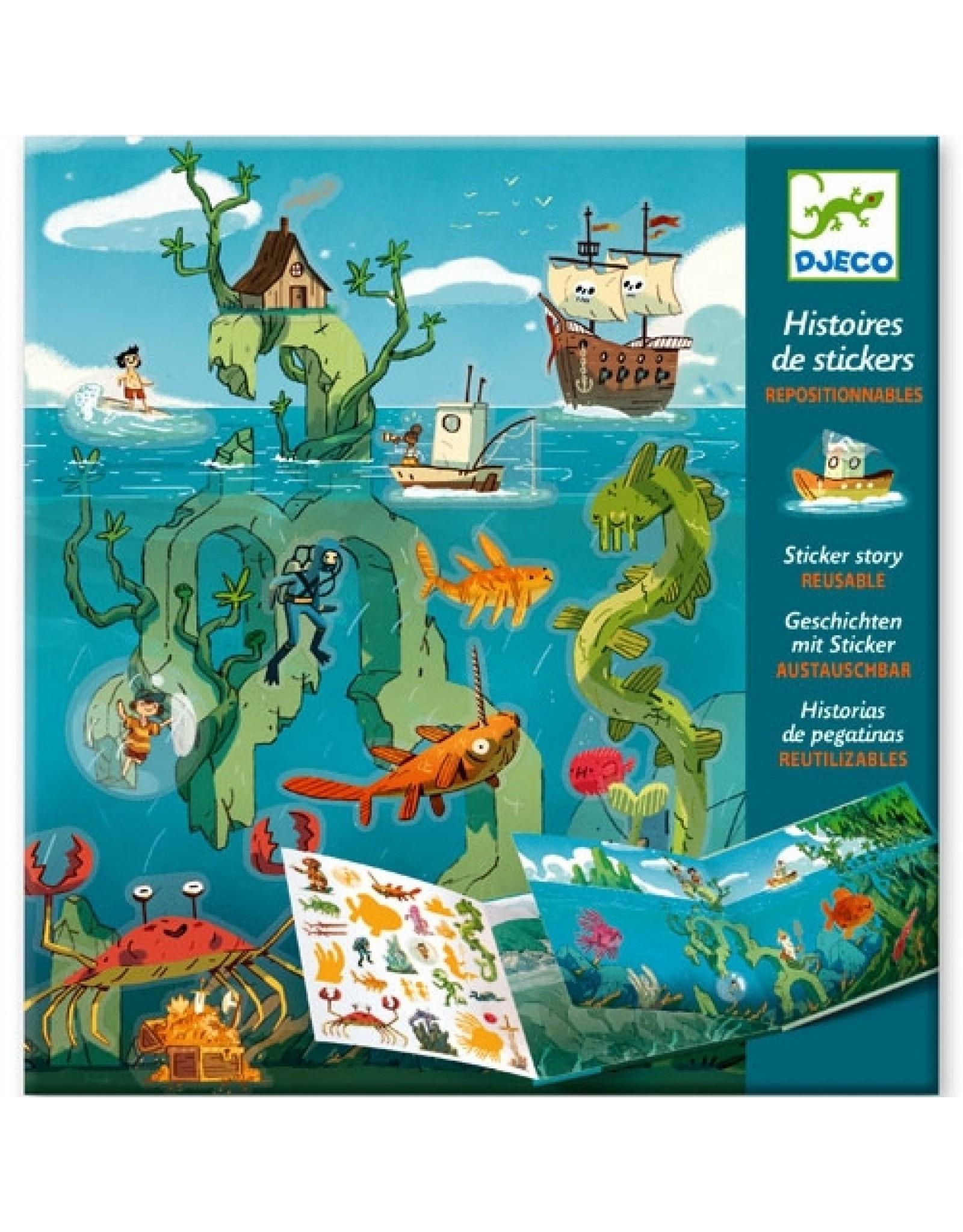 Djeco Sticker Story Adventures at Sea DJ08953