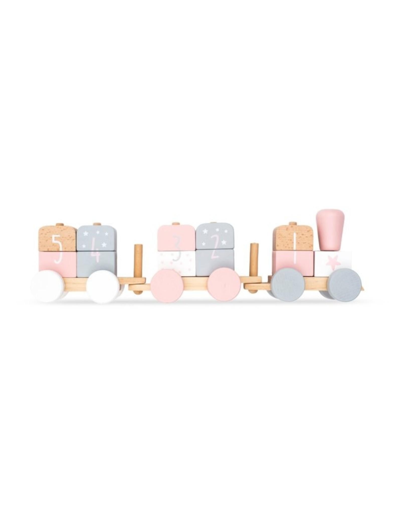 Jollein Speelgoedtrein Grey/Pink