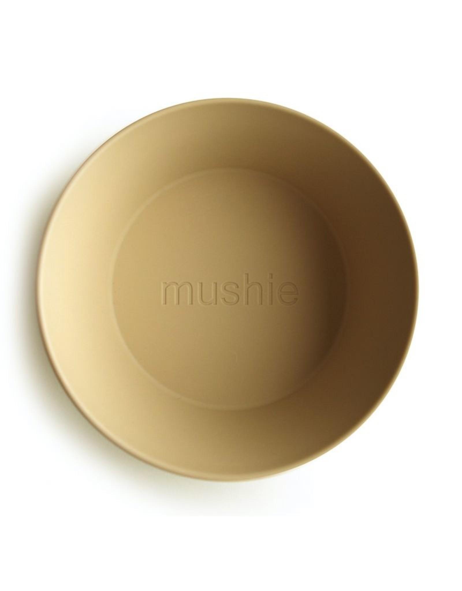 Mushie Bowl Round Mosterd