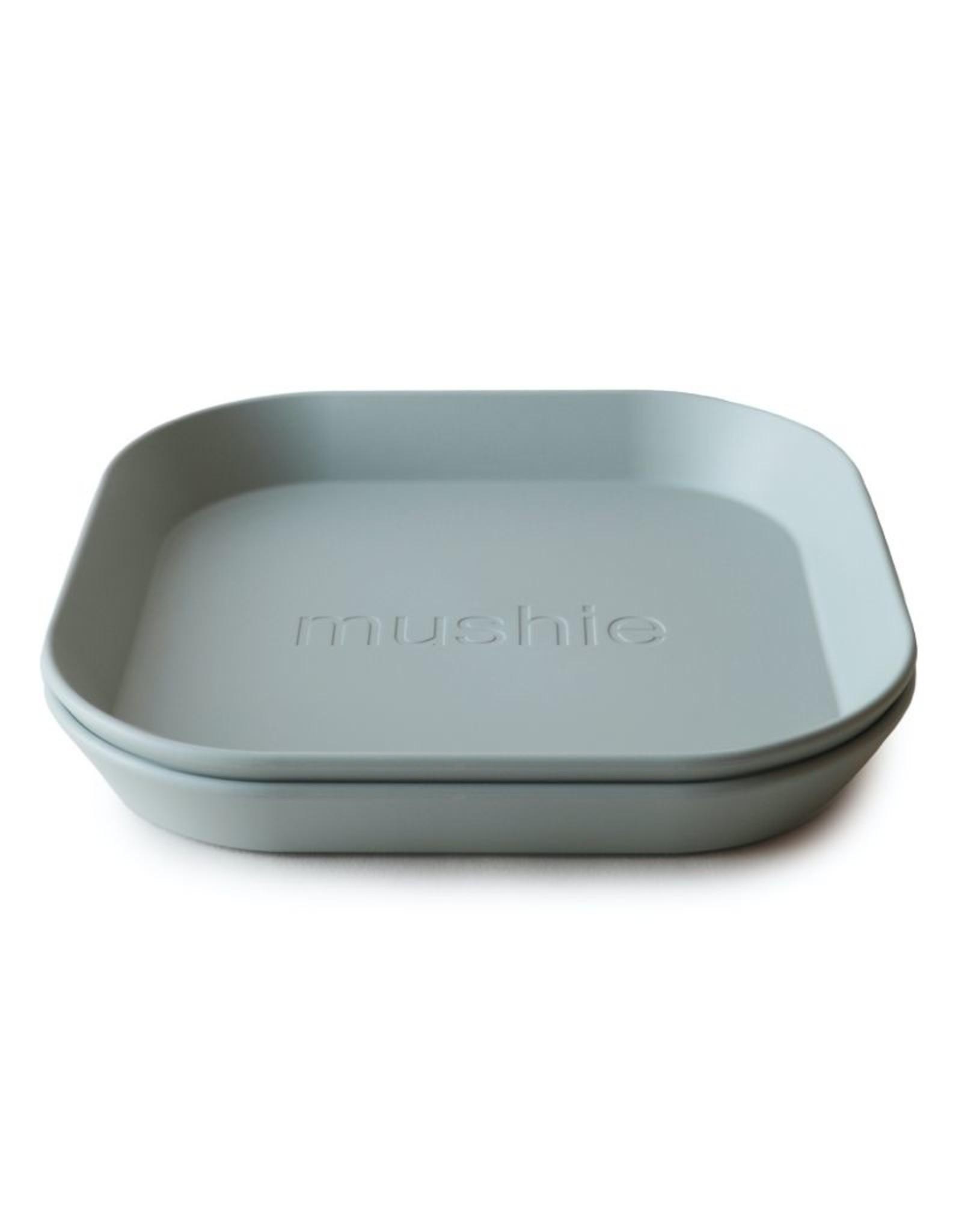 Mushie Plates Square Sage