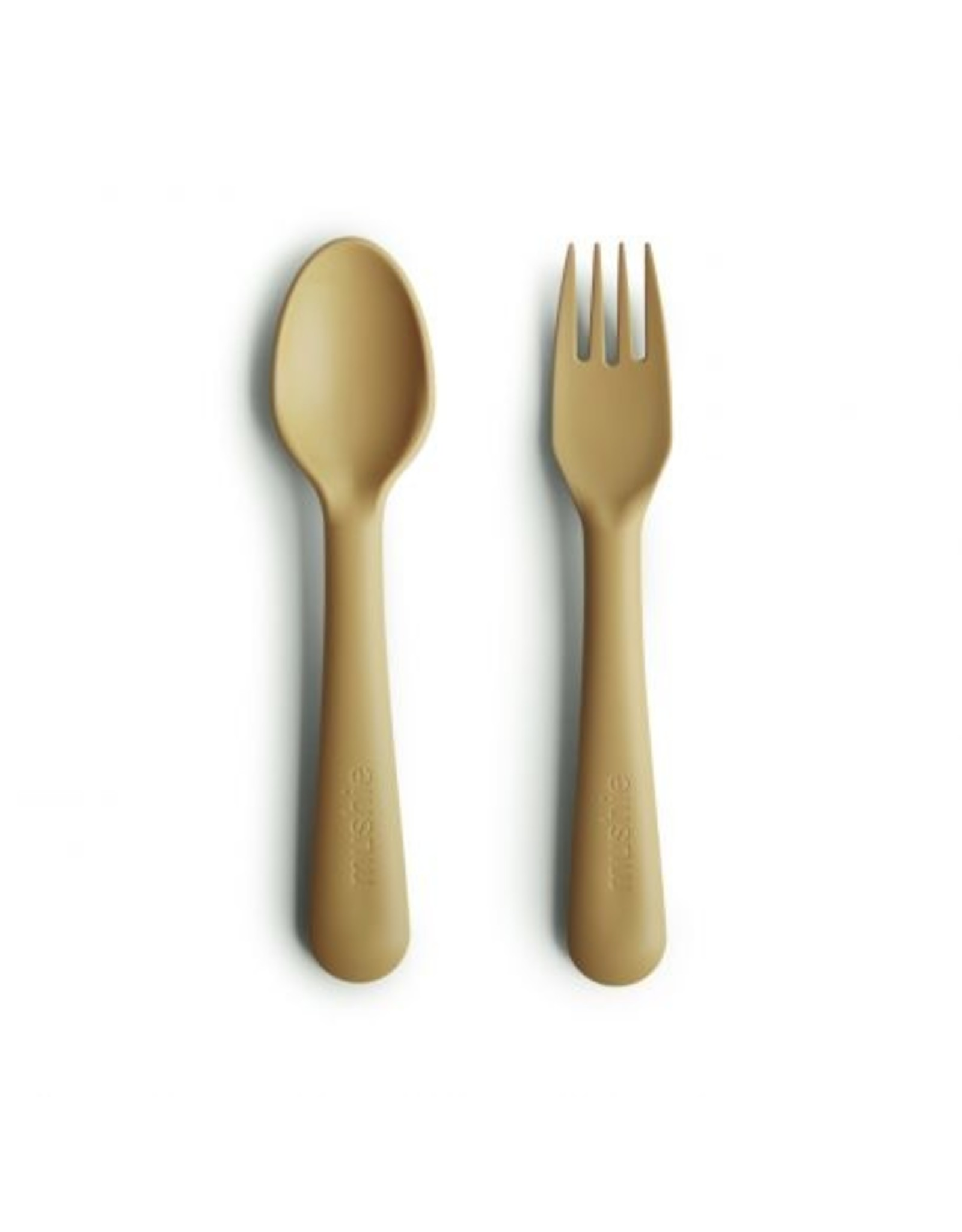 Mushie Fork Spoon Mustard