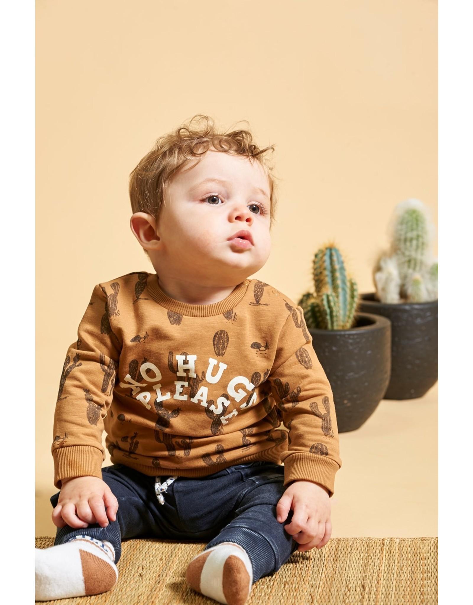 Feetje Sweater AOP - Looking Sharp Camel