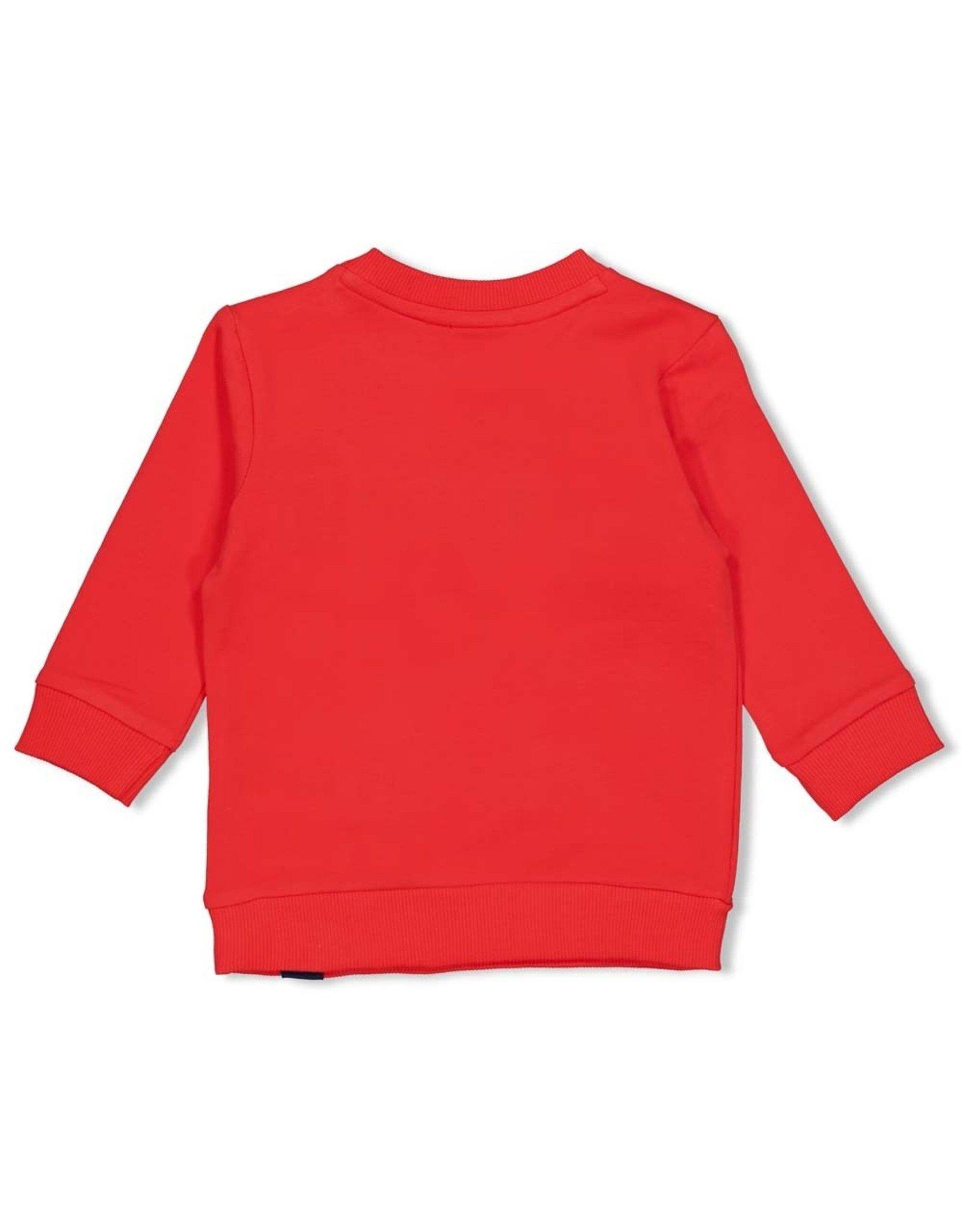 Feetje Sweater - Playground Rood