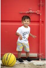 Feetje Short AOP - Playground Grey melange