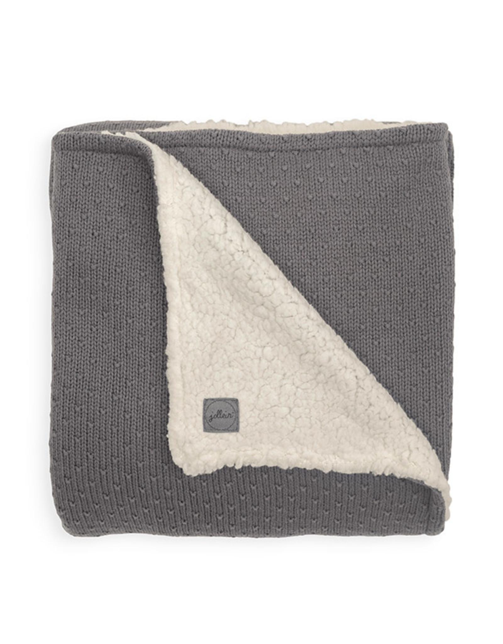 Jollein Deken teddy 100x150cm Bliss knit storm grey
