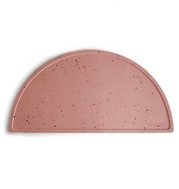 Mushie Silicone Mat Confetti Pink Powder