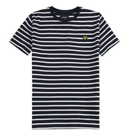 Lyle & Scott Boys Breton T Shirt Navy Blazer